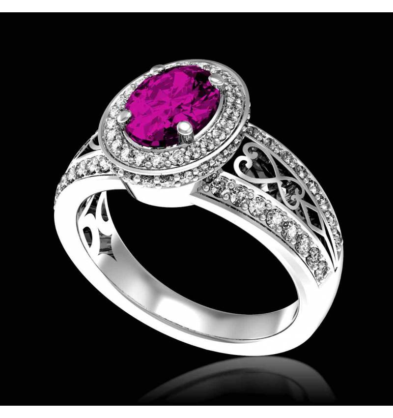 Bague de fiançailles Tourmaline rose Tsarine