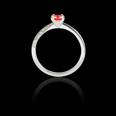 Bague de fiançailles Spinelle rouge Meryem
