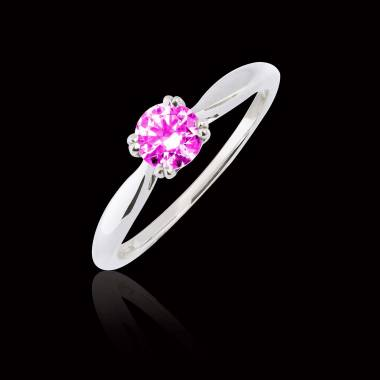 Bague Tourmaline rose Laureen solo