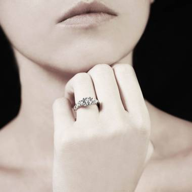 Bague diamant  trilogie Orestie