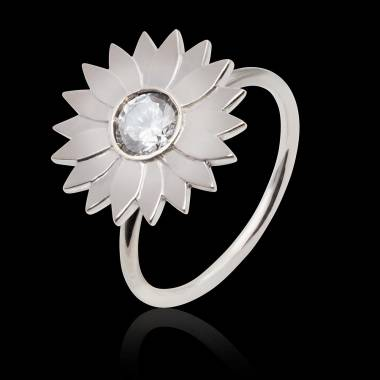 Bague diamant Marguerite solo