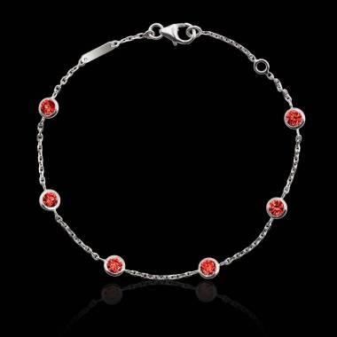 Bracelet rubis Galets