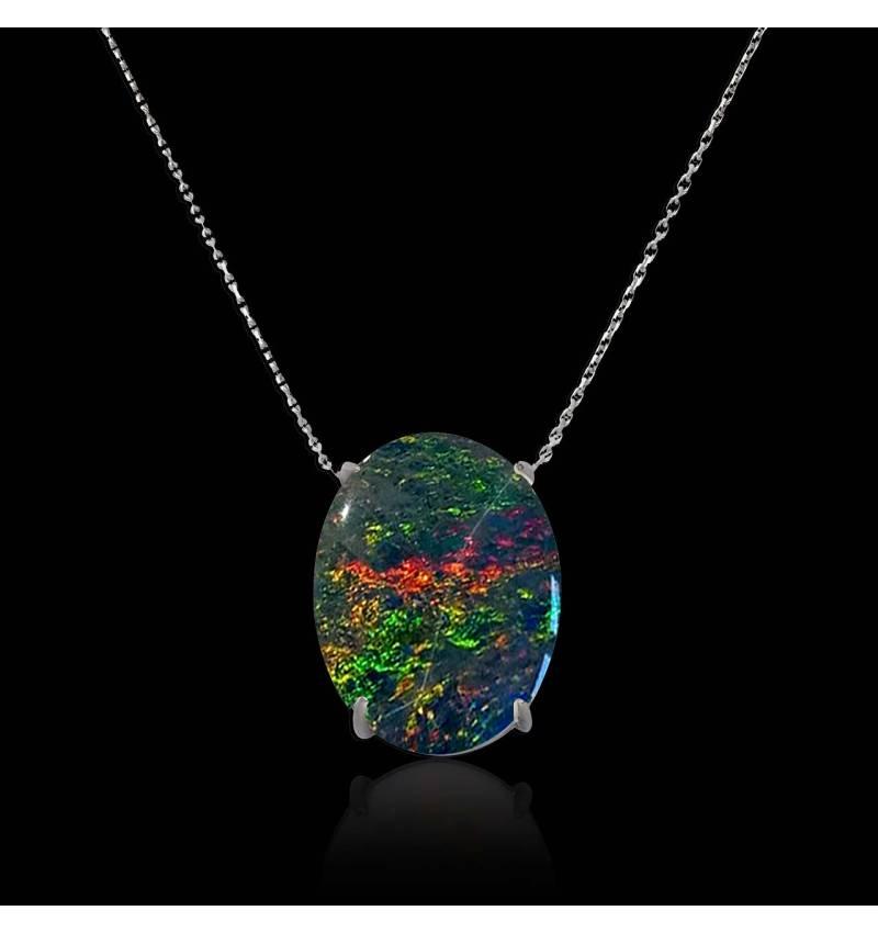 Pendentif opale noire Around me