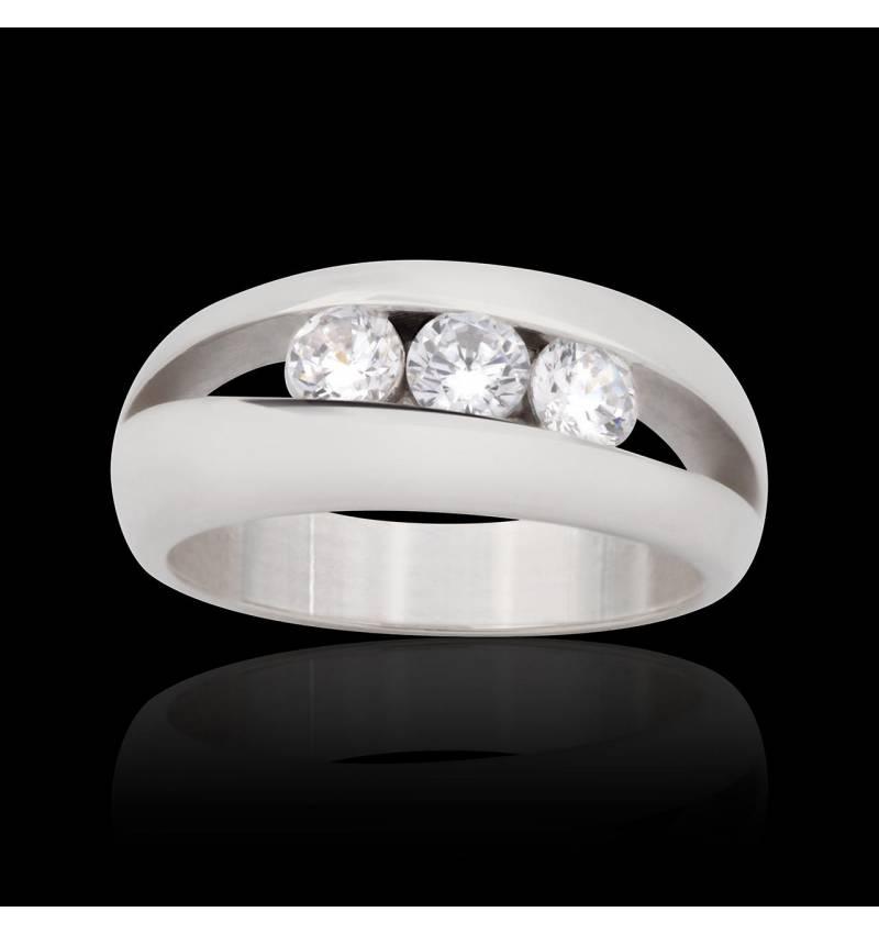 Bague fiançailles diamant Amélie