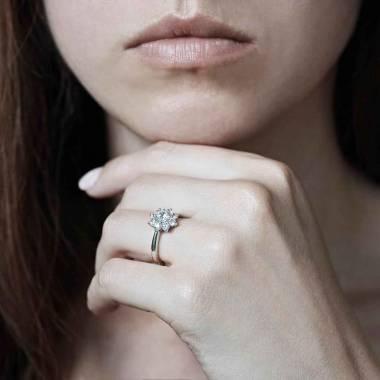 Bague fiançailles diamant Victoria