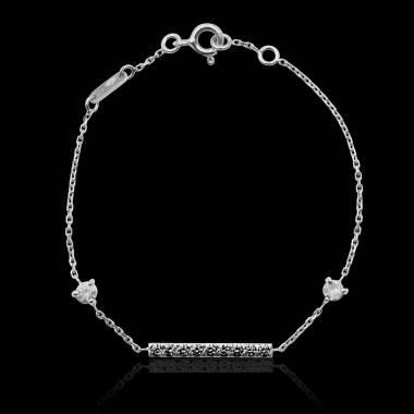Bracelet diamant noir Barrette