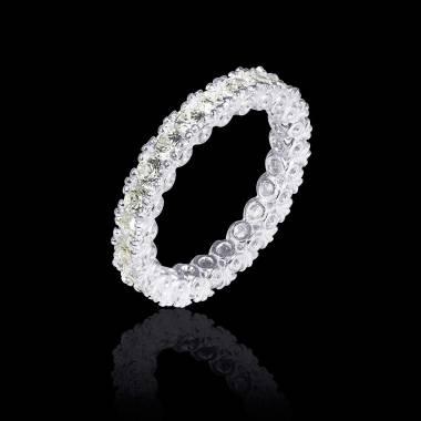 Alliance de mariage pavage diamant 0,5 carat or blanc Jupiter