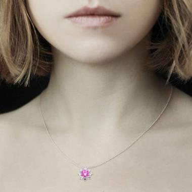 Pendentif saphir rose Victoria