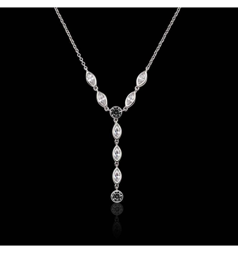Pendentif diamant noir Pompadour