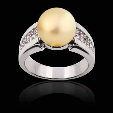 Bague perle gold Aya