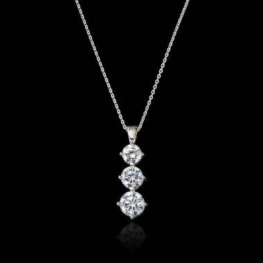 Pendentif diamant Trilogie