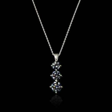 Pendentif diamant noir Trilogie