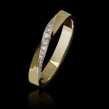 Alliance mariage femme or jaune 18K- diamants Auxence
