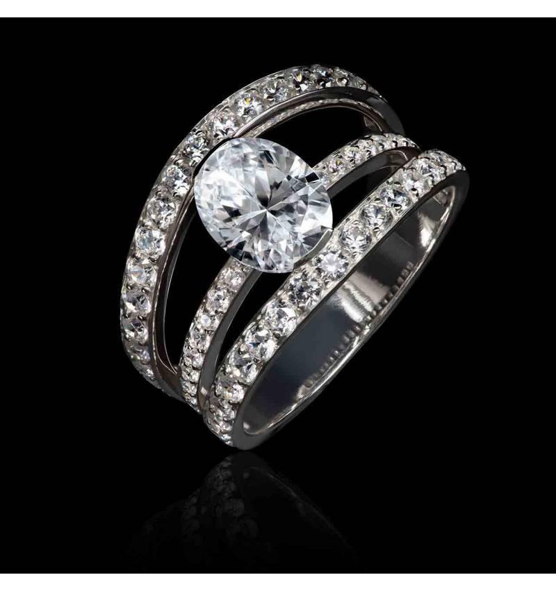bague fiançailles diamant-or blanc- Héloise