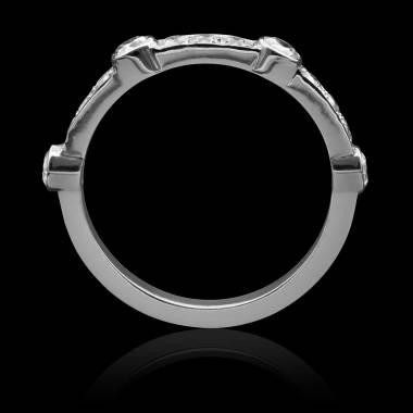Alliance mariage diamant-or blanc -Olivia