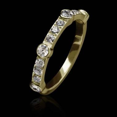 Alliance or jaune - diamant-Olivia