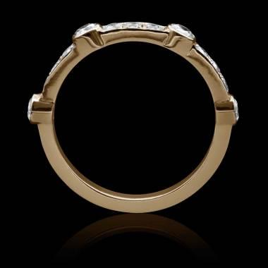 Alliance mariage or rose diamant-Olivia