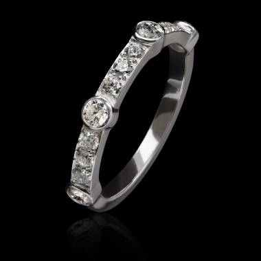 Alliance platine diamant -Olivia