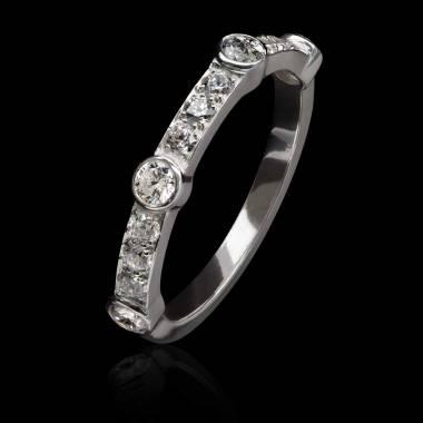 Bague diamant or blanc - Olivia