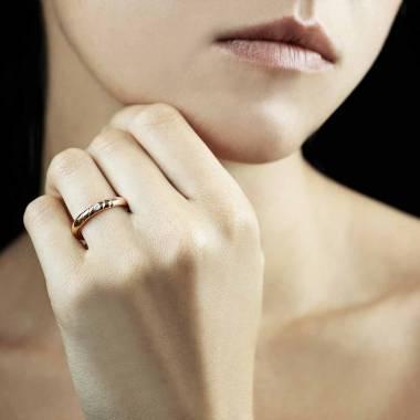 Alliance femme-or rose-diamant-Alex