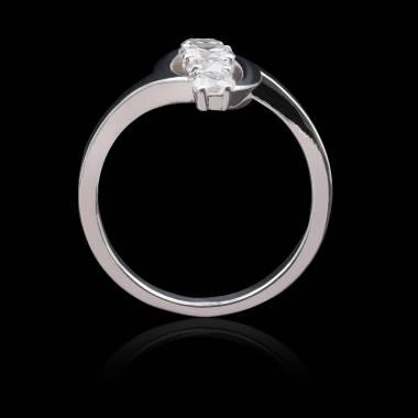 Bague diamant-or blanc-Margaux