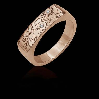 Bague homme- or rose-diamant-Complications
