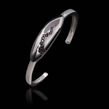 Bracelet diamant noir-or blanc-Quake