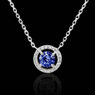 Pendentif-Tanzanite- diamant
