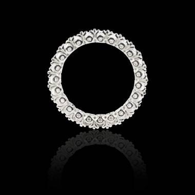 Alliance pavage diamant 0,7 carat or blanc Jupiter