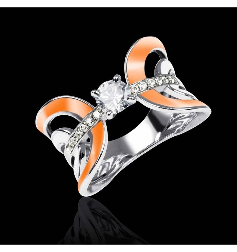 Bague diamant or et laque Corset