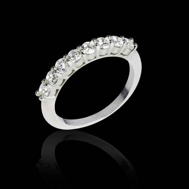 Alliance de mariage diamant 0,5 carat or blanc Mercure