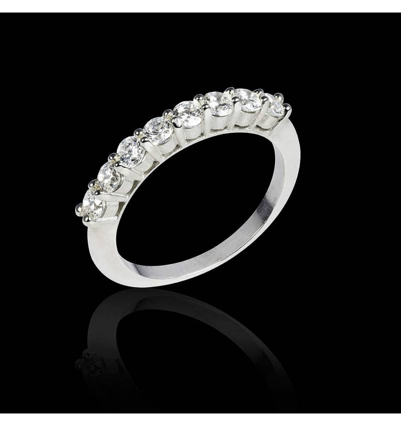 Alliance de mariage diamant 0,5 carat or blanc Mercure