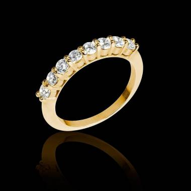 Alliance de mariage diamant 0,6 carat or jaune Mercure