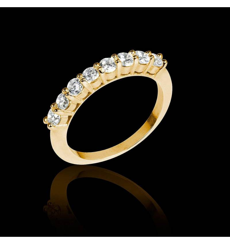 Alliance de mariage diamant 0,6 carat or jaune Mercure