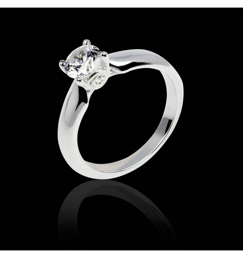 Solitaire diamant or blanc Motherhood