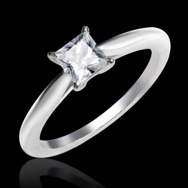 Solitaire diamant or blanc My Love