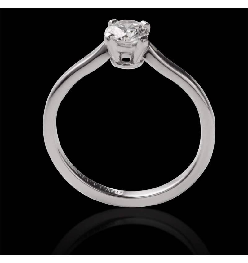 Solitaire diamant or blanc Vanessa Solo