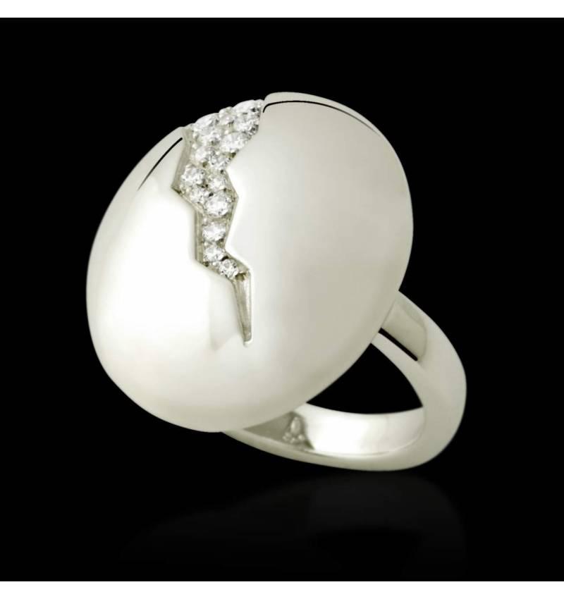 Bague de fiançailles diamant 0,5 carat or blanc Quake
