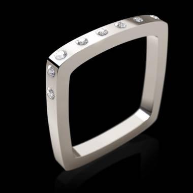 Bague de fiançailles diamant 0,5 carat or blanc Square