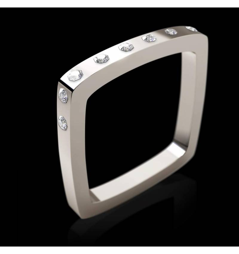 Bague diamant Square