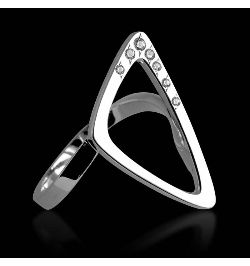 Bague diamant Triangle