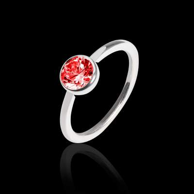 Bague solitaire rubis or rose Cristina