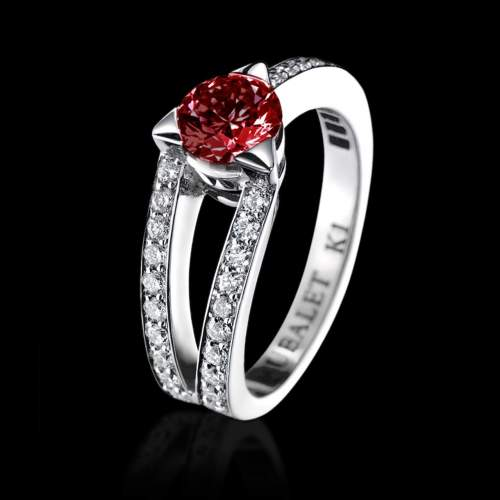 Ruby Engagement Ring Plena Luna