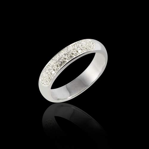 Saturne Diamond Wedding Band White Gold