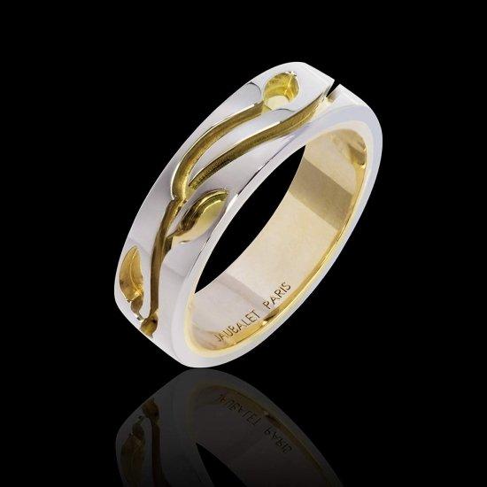 YANN WHITE GOLD WEDDING BAND