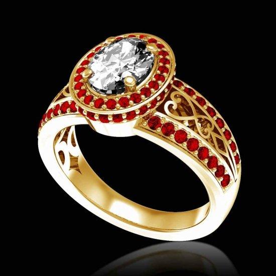 hidden halo ruby ring