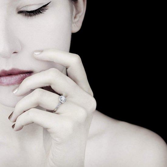 hidden halo diamond ring white gold