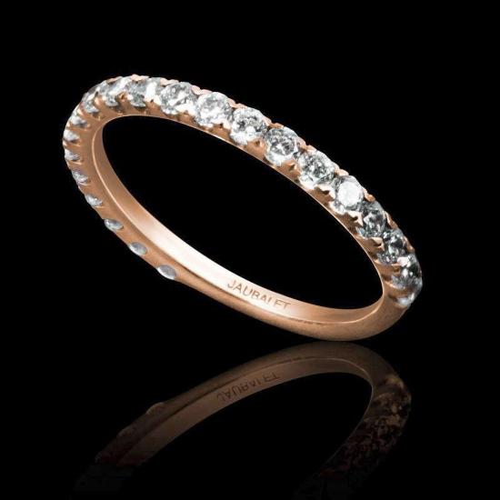 EVE 2/3 ROSE GOLD WEDDING BAND