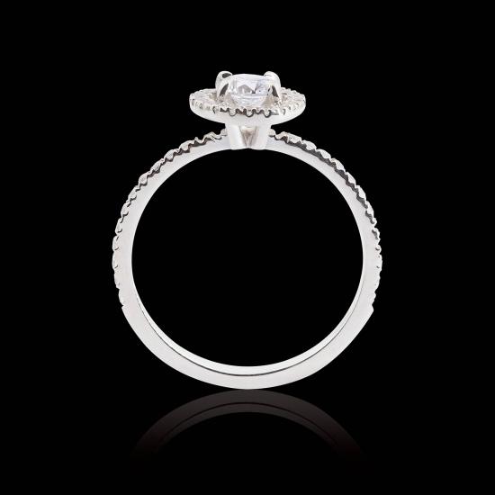 hidden halo diamond engagement ring