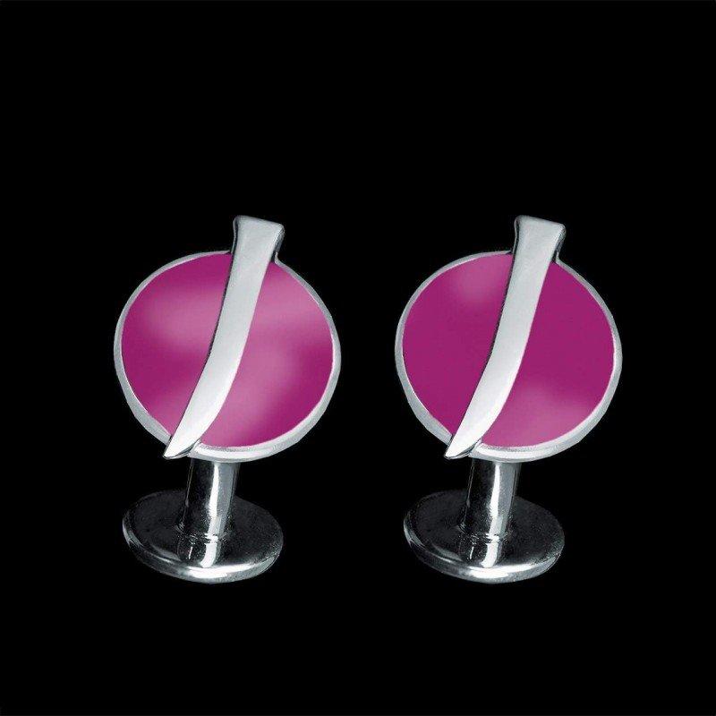 boutons manchette sur mesure or blanc laque rose jaubalet
